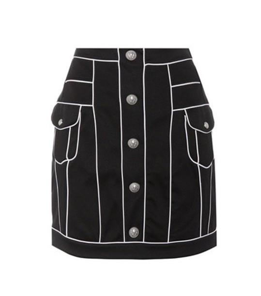 Balmain Cotton miniskirt in black