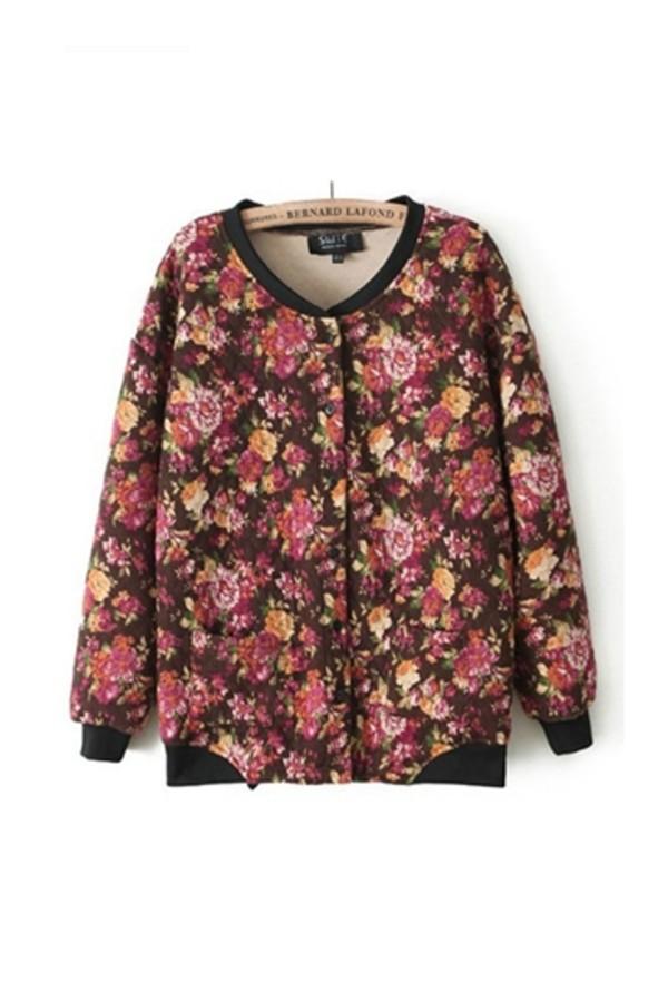 coat persunmall floral print coat floral floral