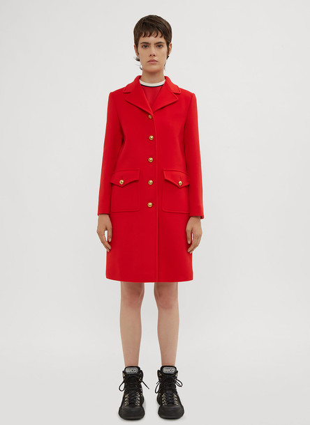 Gucci GG Logo Back Coat in Red size IT - 40