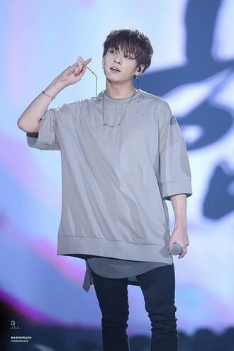sweater bts jungkook kookie kpop concert grey oversized big long warm cool urban grunge kstyle korean fashion kpop idol bangtan boys long sleeves streetwear streetstyle korean style korean idol idol
