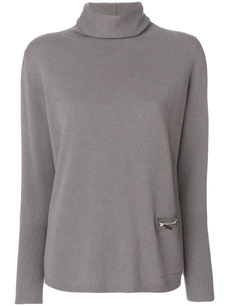 Fabiana Filippi jumper zip women silk grey sweater