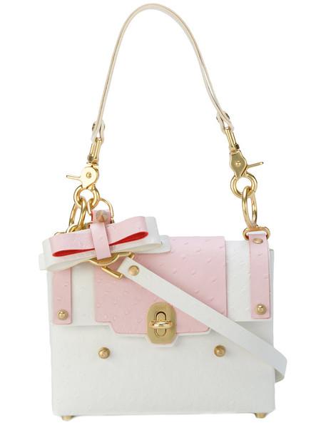 NIELS PEERAER bow women bag shoulder bag leather white