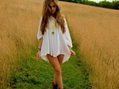 dress,white,straps,cute,loose,baggy,top,blouse,sweet,doll,lolita,angel,girl,short,long,summer,love,lovely,pretty,off the shoulder,nice,boho,hippie,cream,sleeves,flowy,indie