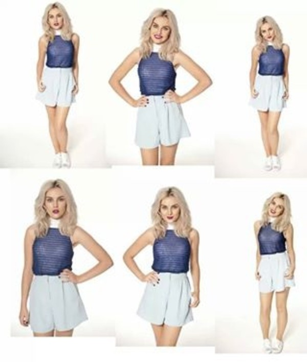 dress blue dress withe perrie edwards