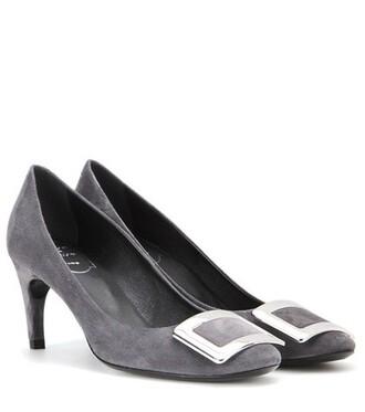 suede pumps pumps suede grey shoes