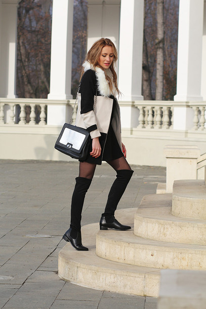 Shoes: boots, long boots, fashion boots, fashion, black boots ...
