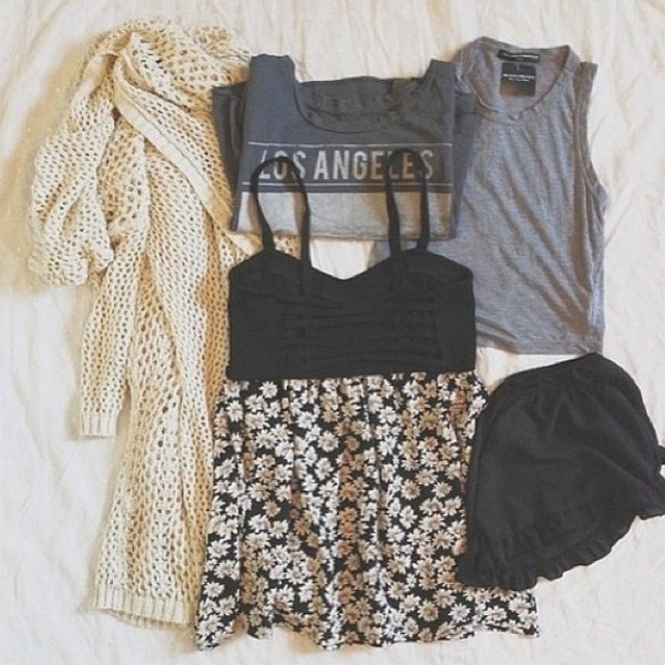 shirt white grey t-shirt soft grunge soft flowers daisy daisy knitted cardigan cardigan pretty cute comfy coat skirt
