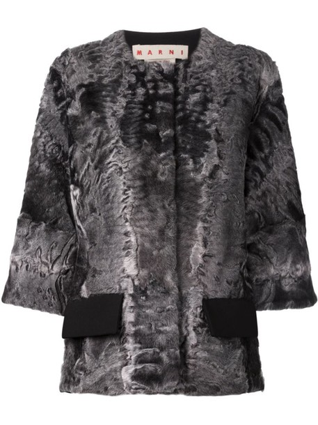 MARNI jacket fur jacket fur women grey