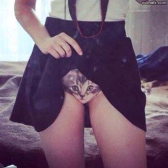underwear cats pussy