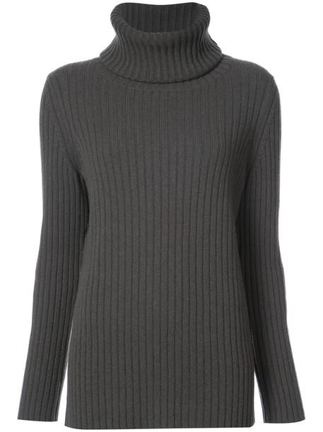 jumper women silk wool green sweater