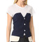 Laveer snap up tux bustier - navy/ivory