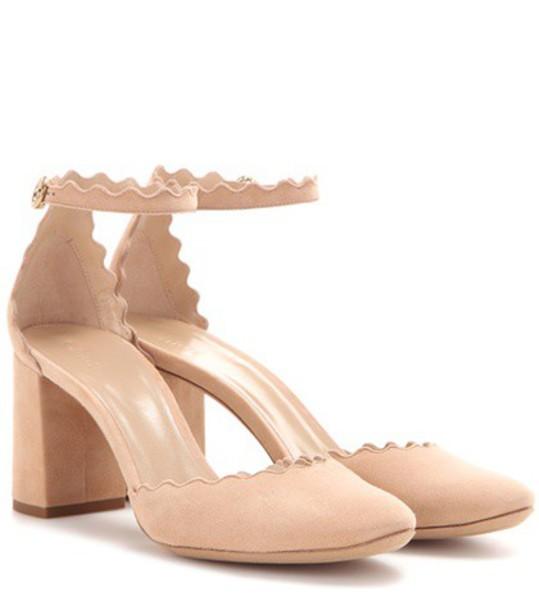 Chloe suede pumps pumps suede beige shoes