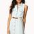 Crocheted Denim Shirt Dress w/ Belt | FOREVER21 - 2048471199