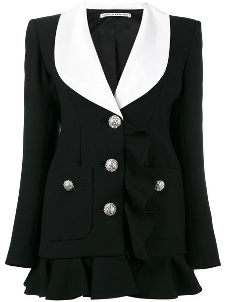 Alessandra Rich dress blazer dress women black wool