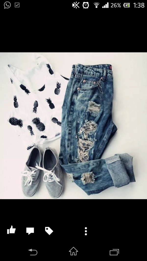 palm tree print white dress ripped jeans jeans sneakers black high heels cool girl style girly style swimwear swag shoes