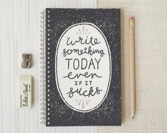 home accessory notebook quote on it new years resolution hipster desk