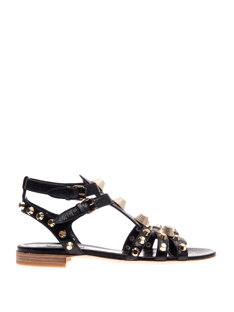 Arena stud leather sandals | Balenciaga | MATCHESFASHION.COM