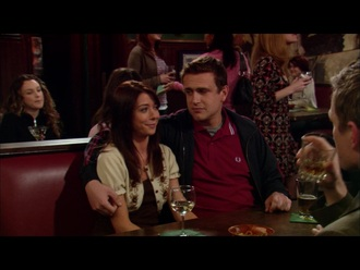 cardigan sand floral alyson hannigan lily aldrin how i met your mother