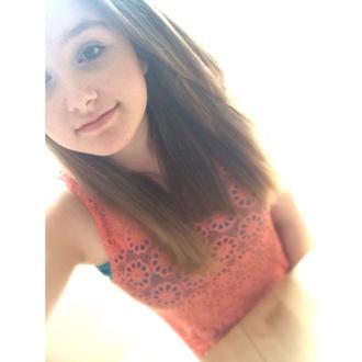 shirt lace orange
