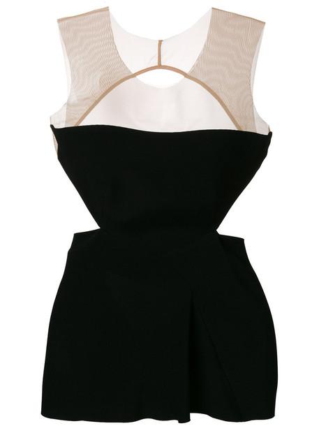 top sleeveless top sleeveless cut-out women black