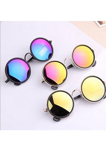 Unisex round frame sunglasses online