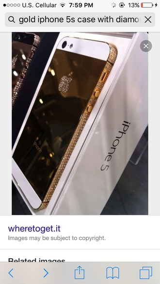 phone cover gold diamonds iphone case iphone cover