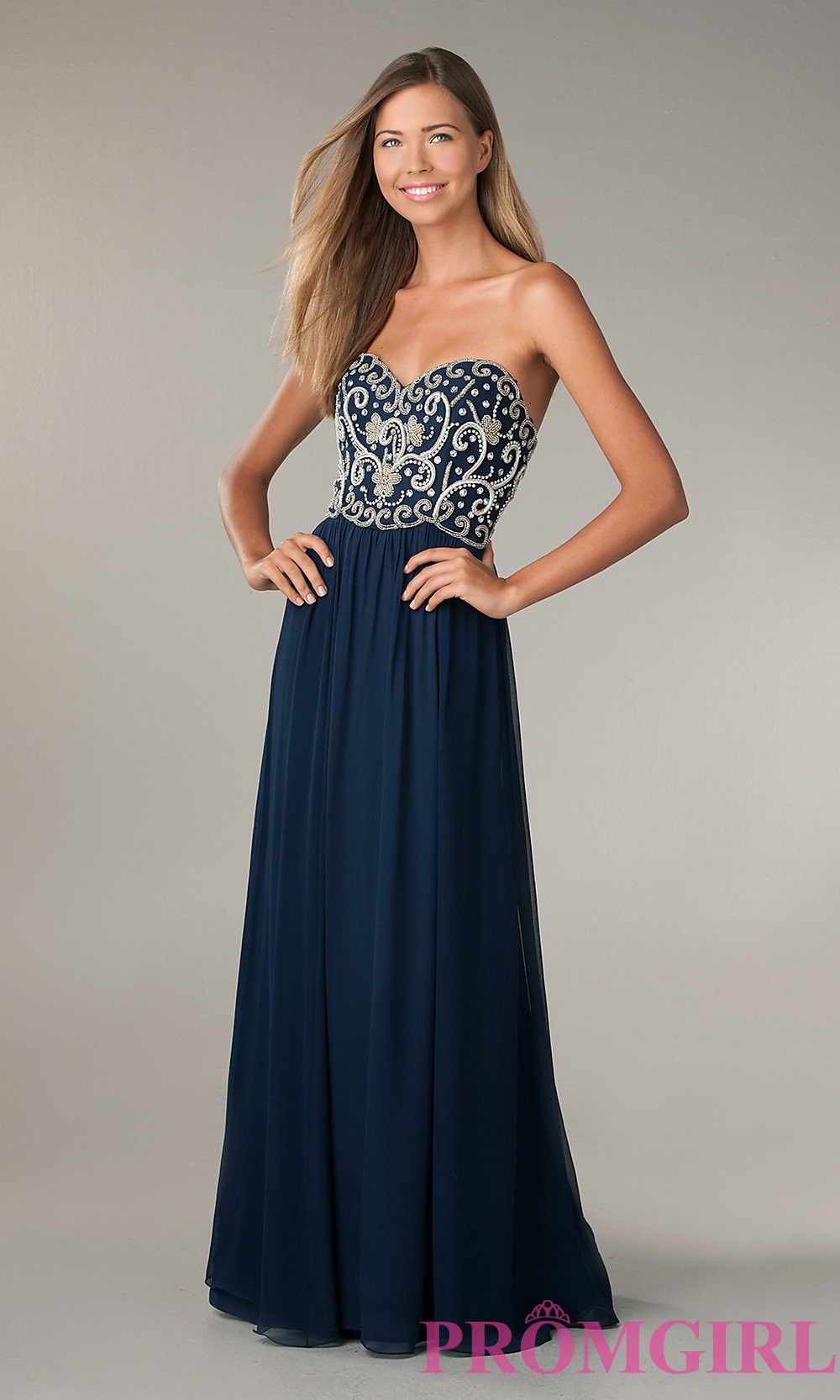 Bead Strapless Gown by Sean Collection - Discount Evening Dresses ...