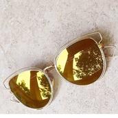 sunglasses,gold,style,aviator sunglasses,cat eye