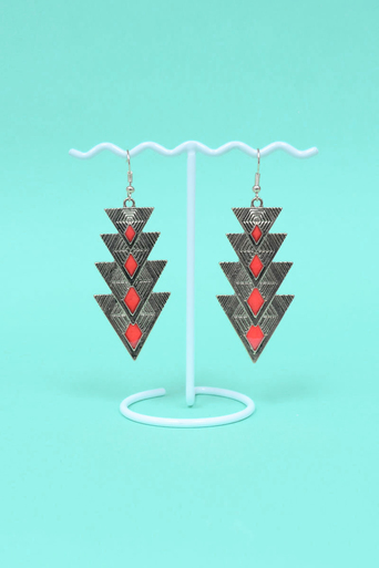Ladies Ura Triangle Earrings | Pop Couture