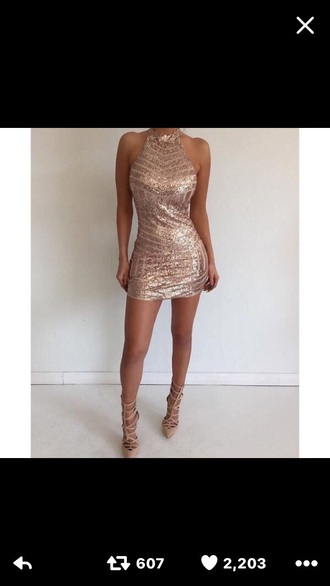 dress bodycon dress bodycon sequin dress beige cream gold sequins gold