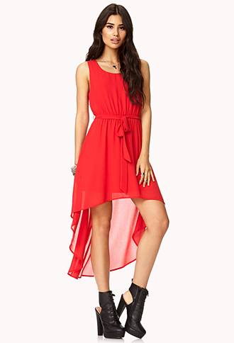 Girly High-Low Cutout Dress | FOREVER21 - 2000051950