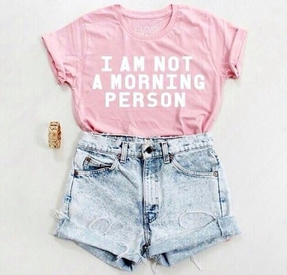 t-shirt quote on it shirt fashion top tank top i am not a morning person morning person tshirt mornings