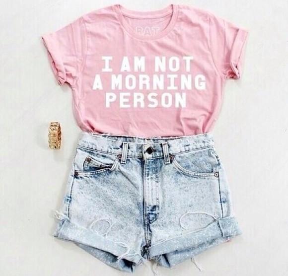 shirt t-shirt top fashion tank top i am not a morning person morning person tshirt mornings quote on it