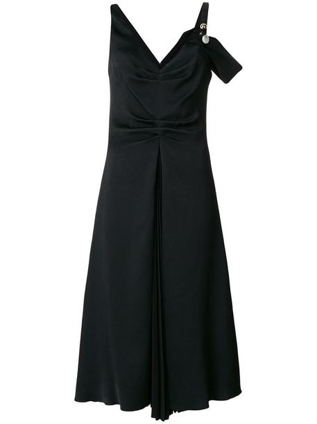 Proenza Schouler dress midi dress women midi black silk