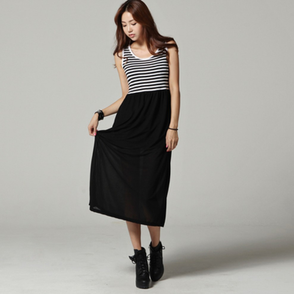 Stripe sleeveless ops