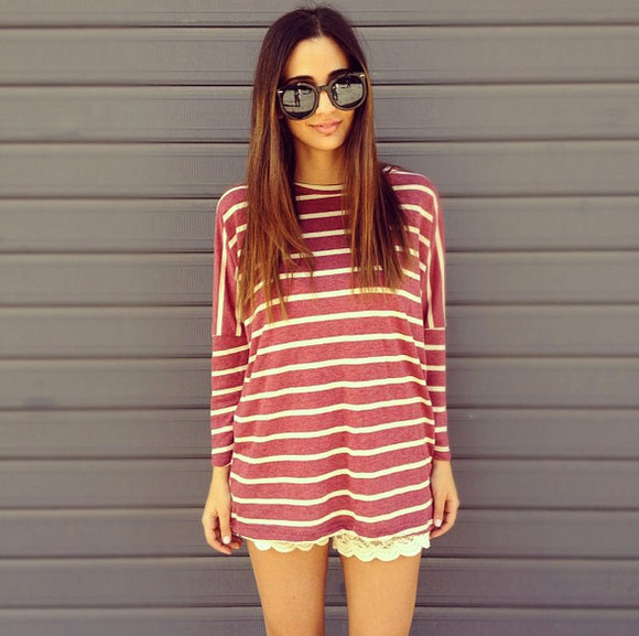 sweater stripes red stripes mariniere