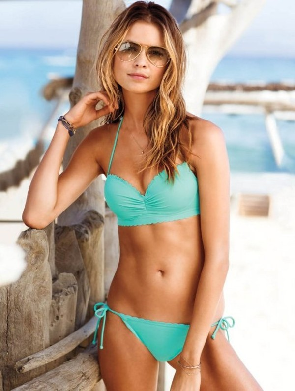 swimwear mint green blue bikini beachwear