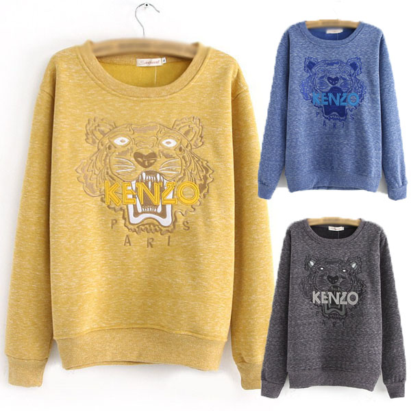 Fashion Celebrity Style Animal Tiger Applique Cotton Jumper Sweatshirt Sweater | eBay