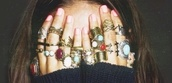 jewels,multicolor,gold ring,silver ring,bronze rings,stones