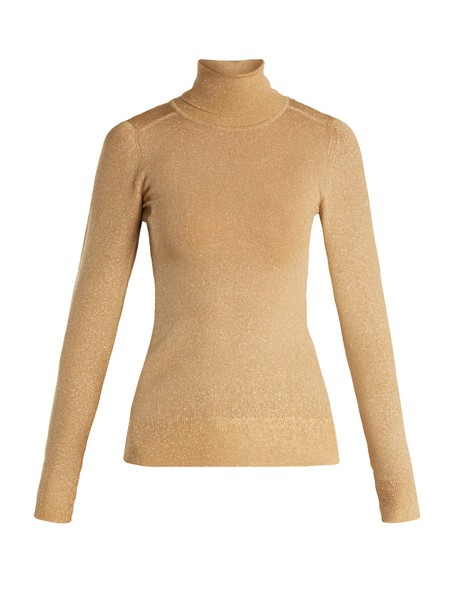 JoosTricot sweater long knit gold