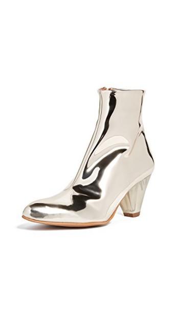 Free People heel heel boots gold shoes
