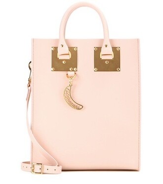 mini leather pink bag