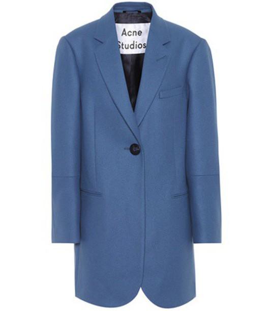 Acne Studios jacket wool blue