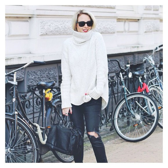 top pull white pullover white dress winter sweater winter outfits winterwear white pullover white sweater
