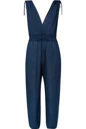 jumpsuit,navy,cotton