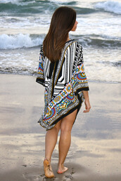top,bohemian,boho,summer,summer top,spring,spring top,ocean,beach,indie,kimono,tribal pattern,tribal top,cardigan,waves,style,fashion,lookbook,coachella,festival,outfit,cute,trendy,girly,blouse,pattern,fashion inspo,black,white