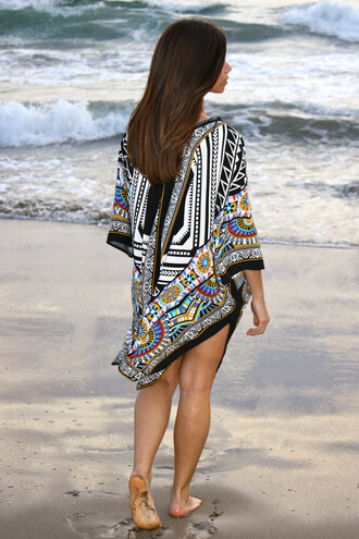 top bohemian boho summer summer top spring spring top ocean beach indie kimono tribal pattern tribal top cardigan waves style fashion lookbook coachella festival festival wear outfit cute trendy girly blouse pattern fashion inspo black white