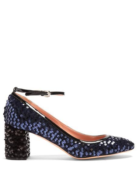 Rochas embellished pumps navy black shoes