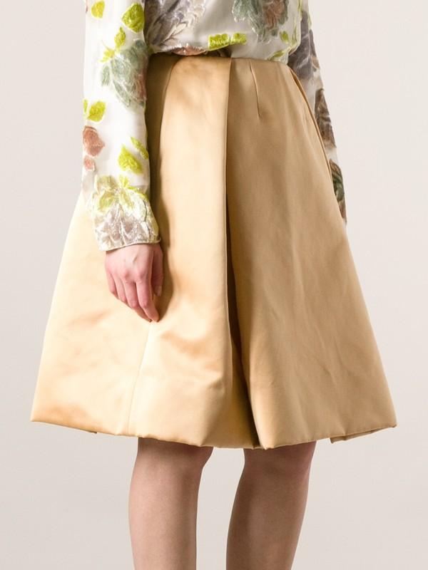 skirt rochas volume skirt beige midi skirt