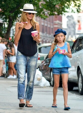 jeans shoes heidi klum hat